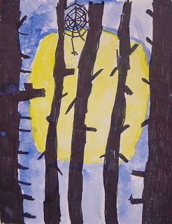 Art Projects for Kids: Tree Silhouette