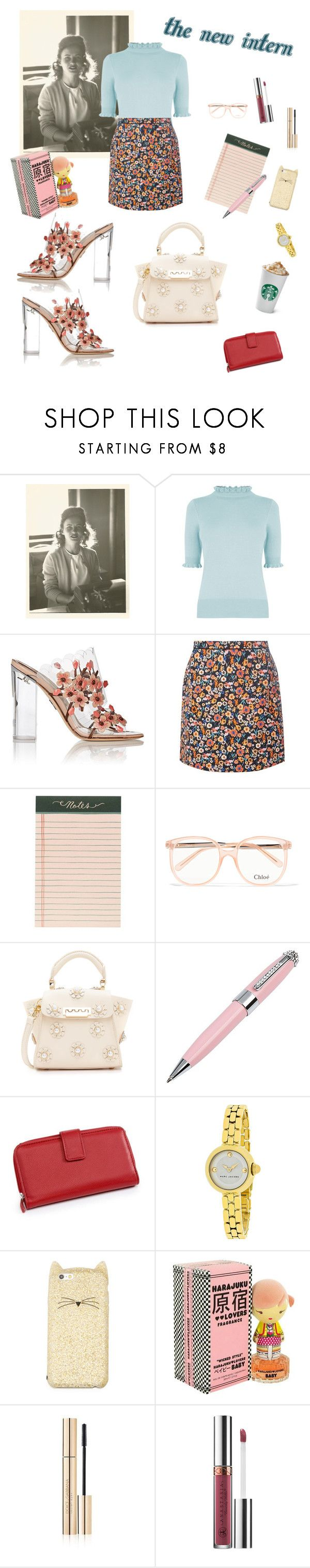 """""""The New Intern"""" by owlenstar on Polyvore featuring Oasis, Paul Andrew, Dorothy Perkins, Rifle Paper Co, Chloé, ZAC Zac Posen, ICE London, Kim Rogers, Kate Spade and Harajuku Lovers"""