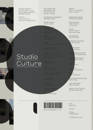 Studio Culture: The Secret Life of a Graphic Design Studio: Adrian Shaughnessy, Tony Brook: 9780956207104: Amazon.com: Books