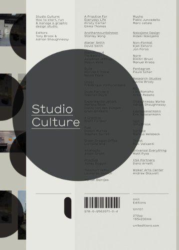 Studio Culture: The Secret Life of a Graphic Design Studio: Adrian Shaughnessy, Tony Brook: 9780956207104: Amazon.com: Books