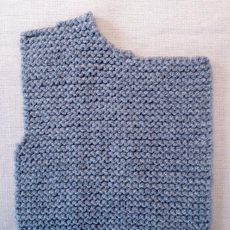 Cómo tricotar el delantero derecho de un abrigo de lana para bebé