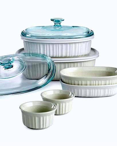 corningware french white 10 piece bakeware set - Bakeware Sets