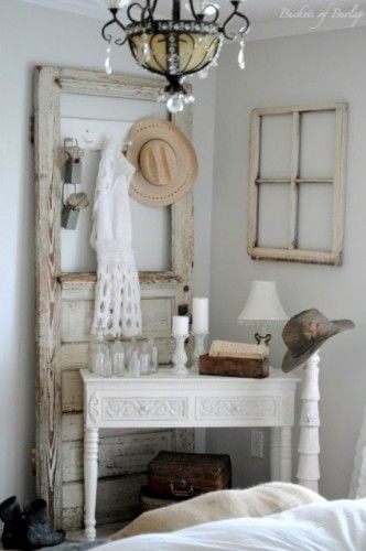Cool idea for an old door. I just bought one at my favorite antique shop. Looking for something creative to do with it.