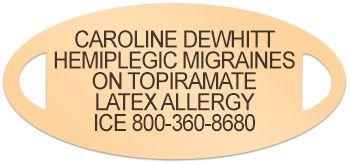 Medical ID for Hemiplegic Migraine