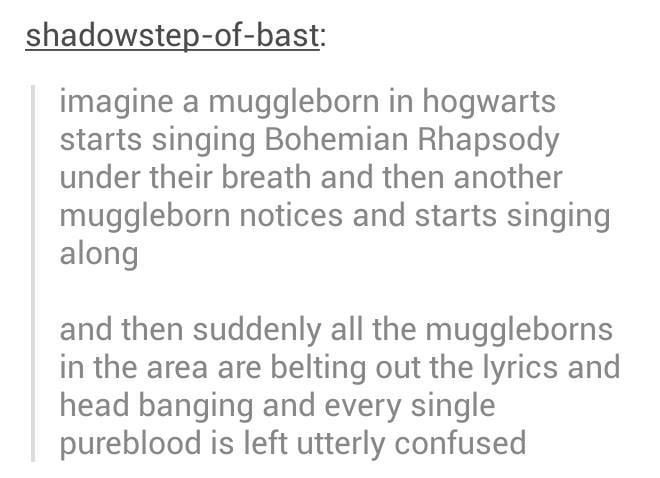 YES! I really like the idea of muggle borns doing things like this!!! << RIGHT?!