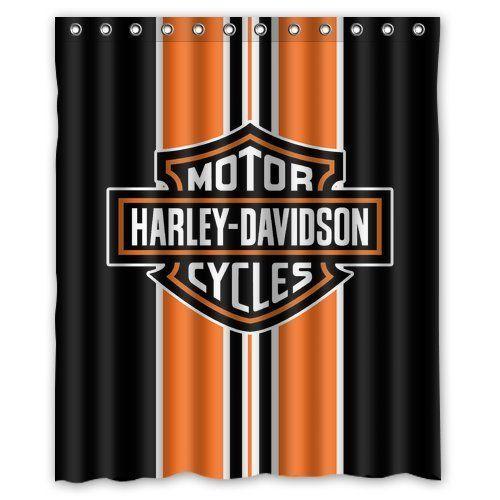 fashionable bathroom collection custom harley davidson shower curtain bath decor curtain 60 x 72
