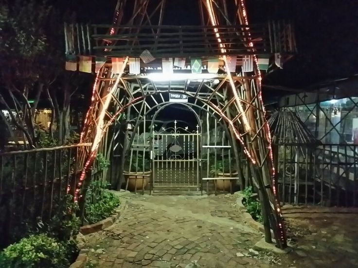Entrance by night to Paljas Backpackers lodge Potchefstroom