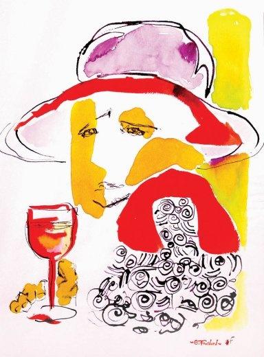 Ink draw Fouchard - France