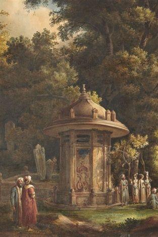 Vue de constantinople by Louis François Cassas