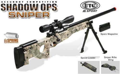 Shadow Op High Power Type96 Airsoft Sniper Rifle - ACU (Customize Options Available), Airsoft Guns, Sniper Rifles, UTG - Evike.com Airsoft Superstore