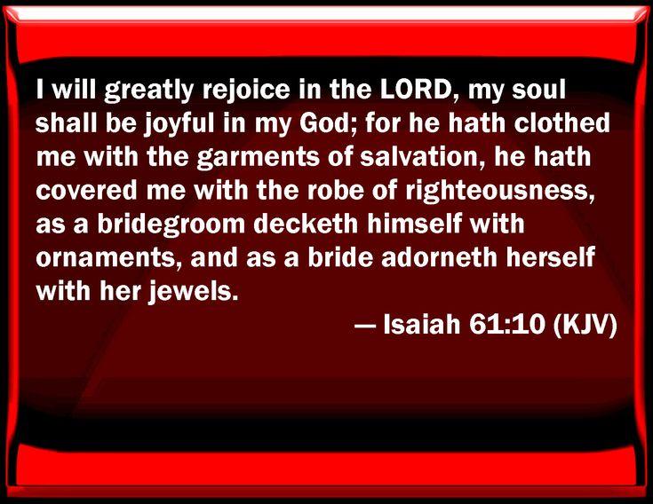 Image result for Isaiah 61:10 kjv