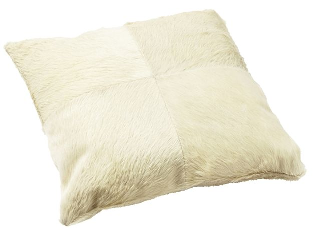 Leather Products - Creamy Patchwork cowhide cushion, Leather Suppliers, Australia, NSW Leather