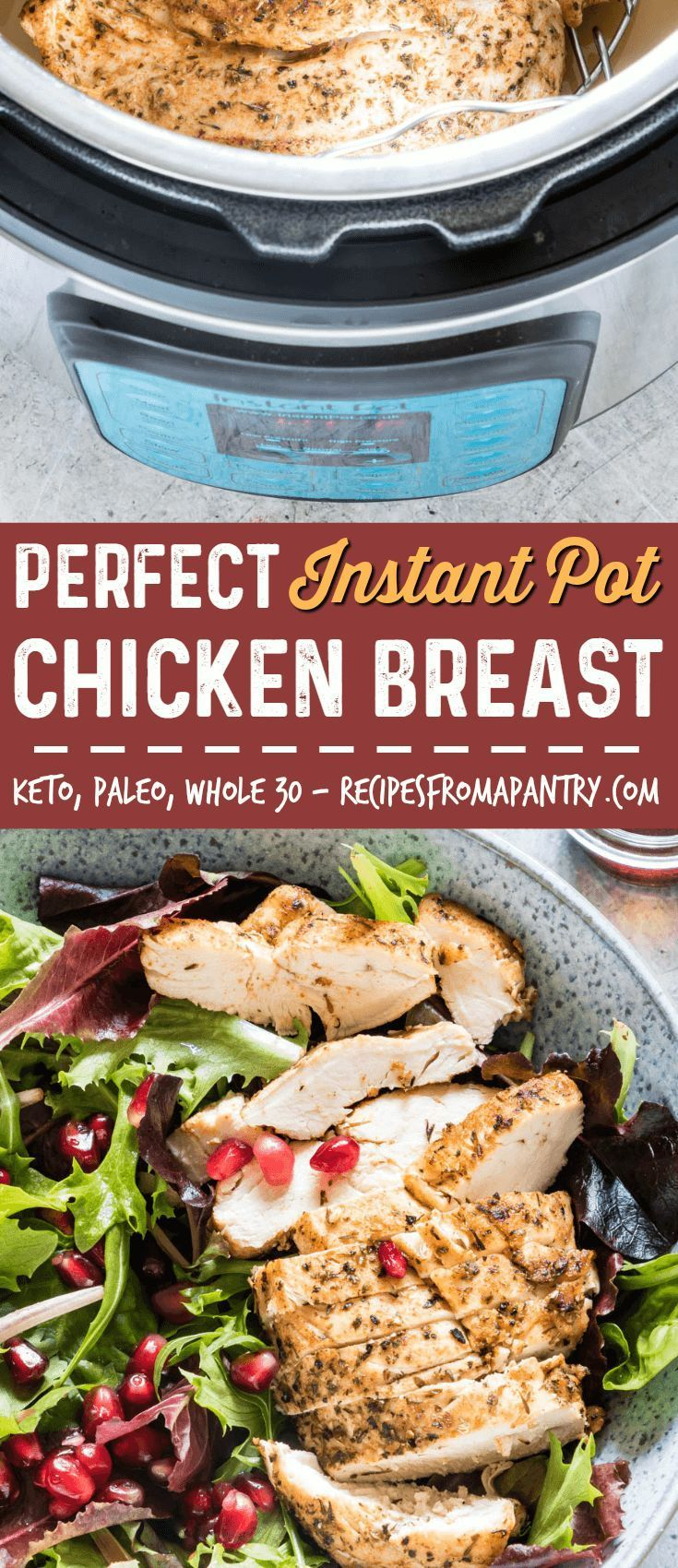 If you're looking for the BEST and EASIEST Instant Pot chicken breast recipe, you've found it! This Instant Pot recipe produces flavourful, moist, and delicious chicken breasts in no time at all. Use fresh chicken breasts or frozen chicken breasts! #instantpot #instantpotrecipes #instantpotchickenbreast #instantpotfrozenchickenbreast via @recipespantry