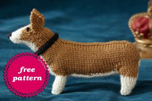 Cute Knitted Dogs! Free Pattern for Corgi Dog. (From web-site promoting the b...