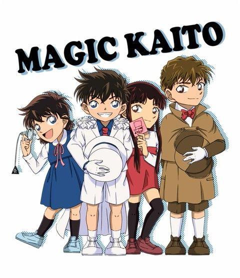 Aoko, Kaito, Akako, Hakuba | Magic Kaito