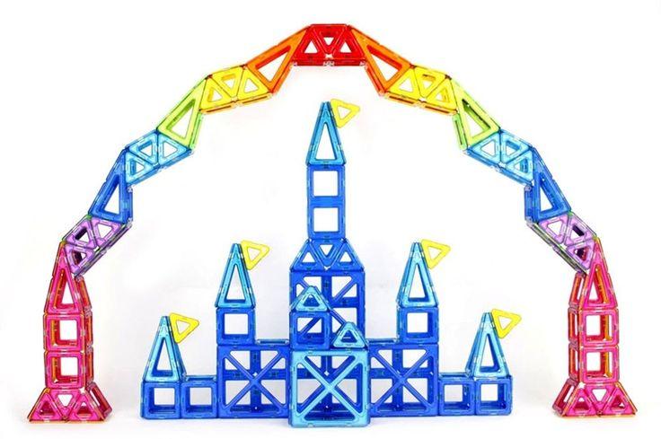 27.89$  Watch now - http://diejq.justgood.pw/ali/go.php?t=32703160646 - Children Toy Bricks 47pcs 78pcs Magnetic Building Toys 3D Magformers  Diy  Building Block Gift Toys 27.89$