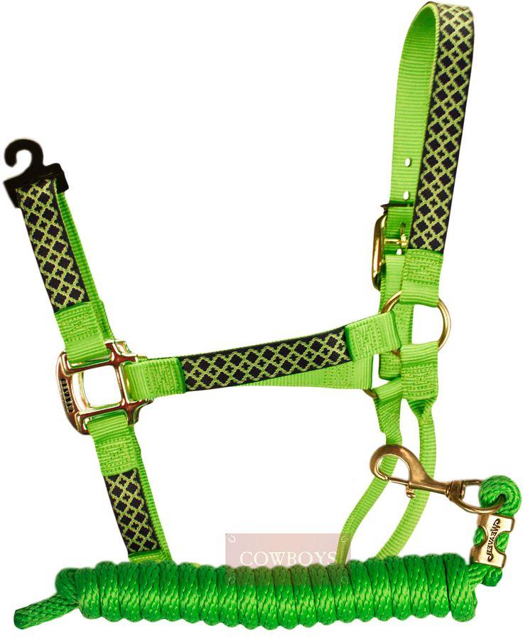 cabresto e Cabo de Nylon Weaver Personalizado Verde Limão    Conjunto com cabo e cabresto feito de nylon, nas cores verde com detalhes em azul, Importado da marca Weaver. Possui alta resistência e durabilidade.  Ideal para amantes do estilo country e de cavalos.