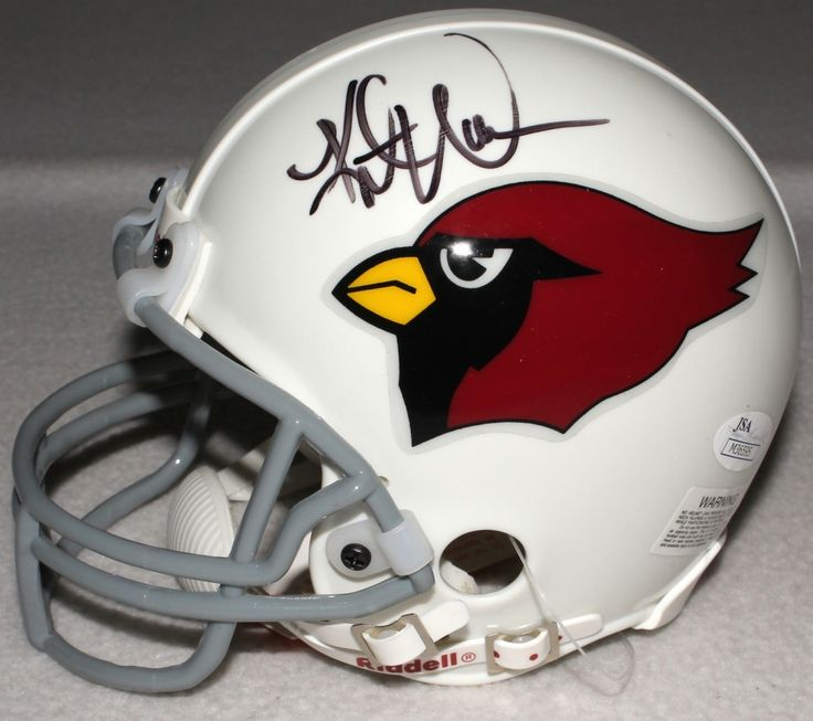 Arizona Cardinals Kurt Warner and Ken Whisenhunt autographed mini-helmet, JSA COA, $249.99