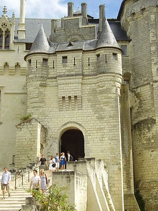 The Château de Saumur, originally built as a castle and later developed as a château, is located in the French town of Saumur, in the Maine-et-Loire département. It was originally constructed in the 10th century  by Theobald I, Count of Blois, as a fortified stronghold against Norman predations.