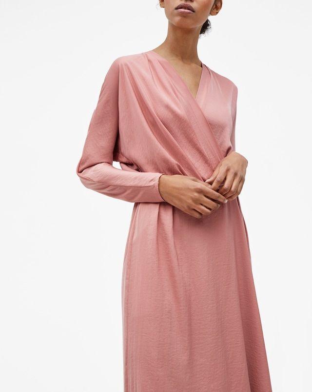 Drapey Wrap Dress Salmon - Filippa K  95275a206910