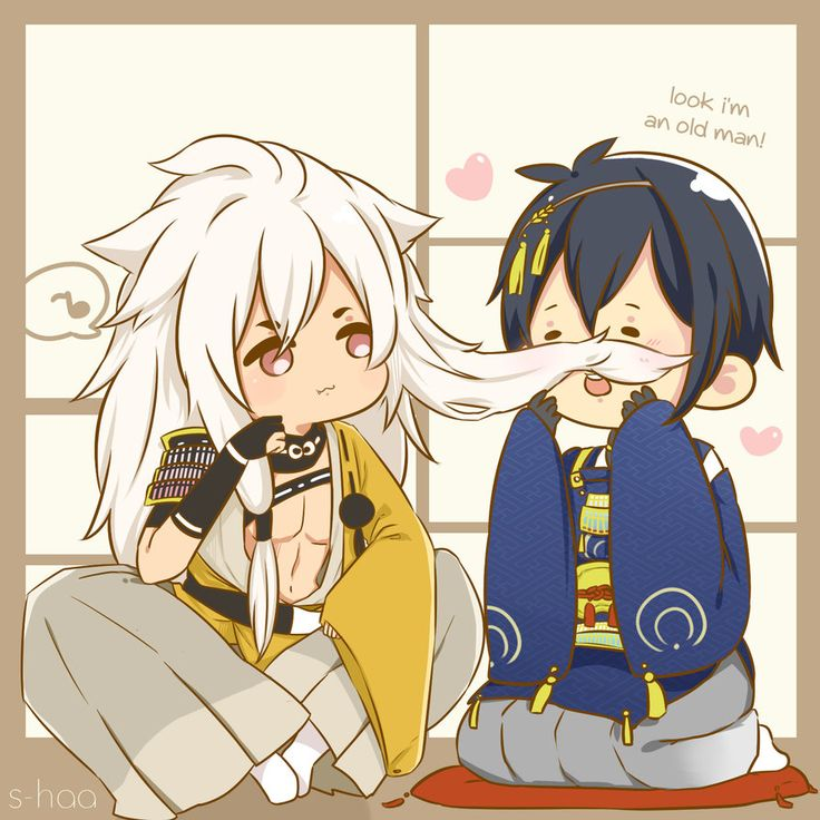 HEY HEY GUESS WHO FALL TO DEEP IN THIS GAME? NOT ME they're so adorable eventho i still can't get both of them Touken Ranbu (c) DMM & Nitro+ Tumblr || Instagram More chibis: