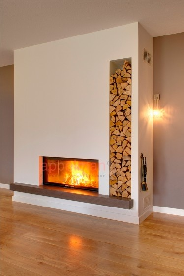 Fireplace firewood holder. Brilliant!