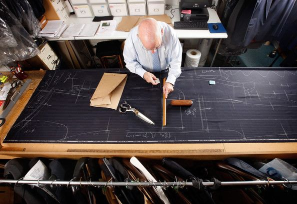 Bespoke Tailors Work At Savile Row