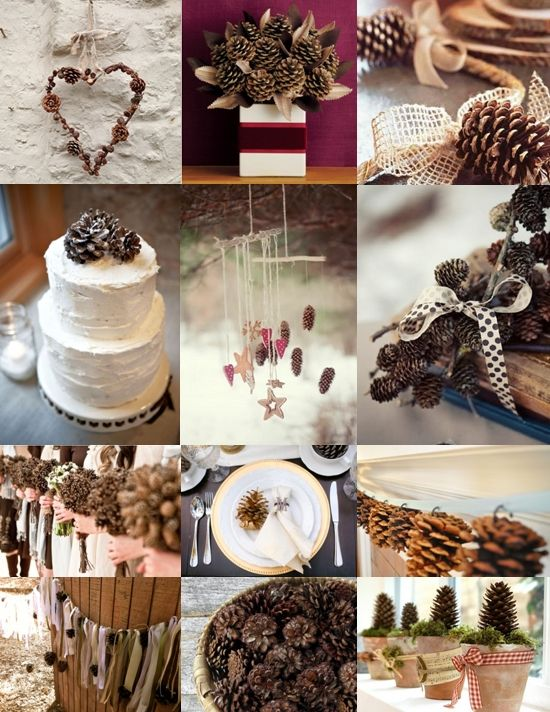 pine cone table wedding decoration ideas | wedding decorations - The Wedding Community Blog