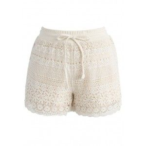 Weekend vibes! These crochet vacay shorts in beige are the definition rest, relaxation and regality!   - Delicate crochet finished - Elastic waistband with self-tie tassel strings - Side pockets - Lined - 100% Polyester - Hand wash  Size(cm)Length Waist  Hip S/M        31   56-70  88 Size(inch)Length Waist  Hip S/M        12   22-27.5 34.5  * S/M fits for US2-6 UK6-10 EU34-38 * Our model is 174 cm/5'9