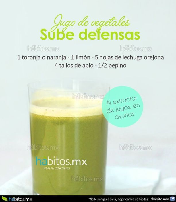 JUGO DE VEGETALES PARA SUBIR DEFENSAS