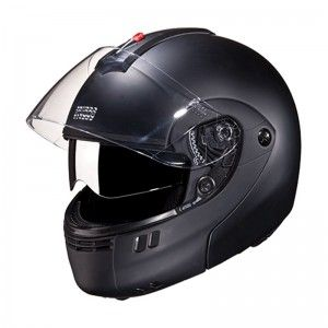 Outer Shell injected from special high impact grade of engineering thermoplastic.  Multiposition articulating optically true injected polycarbonate visor duly silicon hard coated for scratch resistance properties.  regulated density EPS concussion padding lined with specially treated anti allergic velveteen.  The helmet is equipped with a second sun visor which is made from tinted Polycarbonate & is duly silicon hard coated.  Removable and replaceable liners.
