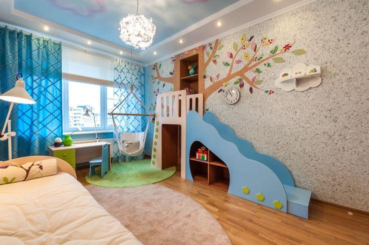 Детская: Сказочный лес / Дизайнер Екатерина Герман оформила интерьер детской комнаты для девочки. Результатом её работы стала не просто детская комната, а целая сказка. Здесь и сказочное дерево с тайником в виде ниши