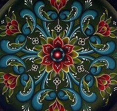 Norwegian Folk Art Painting | Norwegian Rosemaling Rogaland