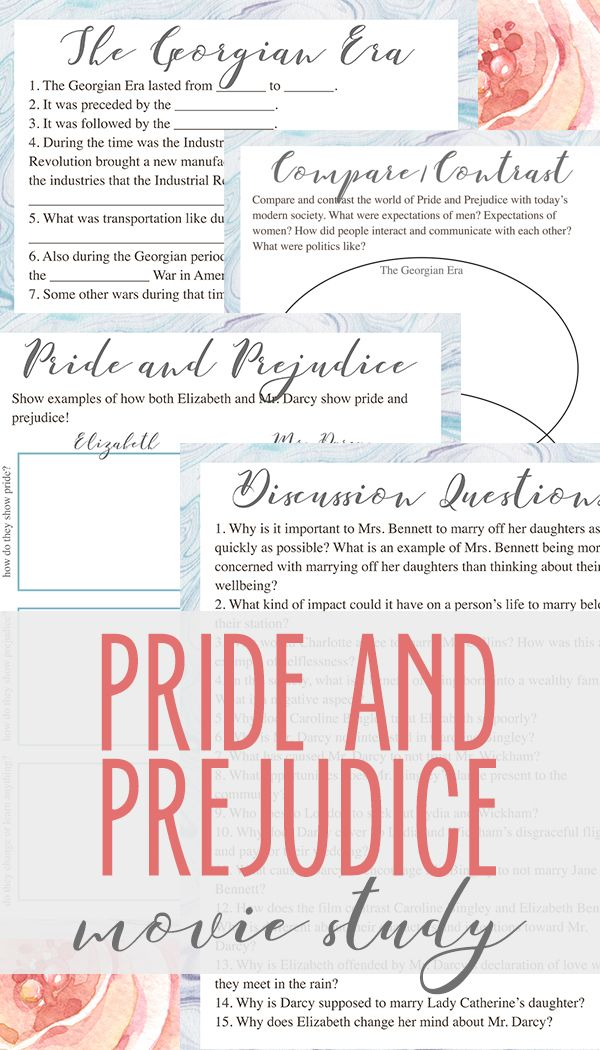 best pride and prejudice analysis ideas pride pride and prejudice movie study contains discussion questions comprehension questions character analysis