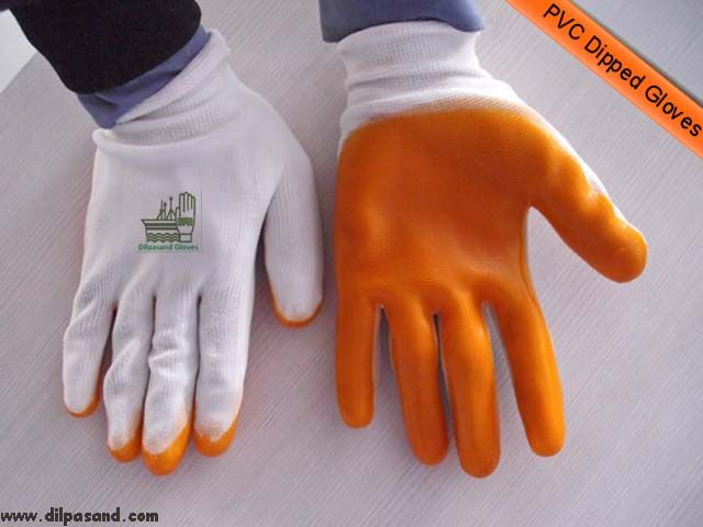 PVC Dipped Gloves make sure safety of workers against numerous odds of a work place.