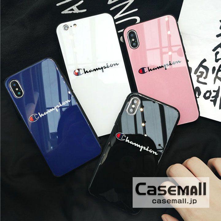 ed8813dcf7 チャンピオン 背面ガラス iPhoneXS Max ケース Champion iPhone XS/X カバー おしゃれ iPhone XR ケース  ブランド アイフォン8 8PLUSケース 可愛い iPhone7 iPhone6s ...