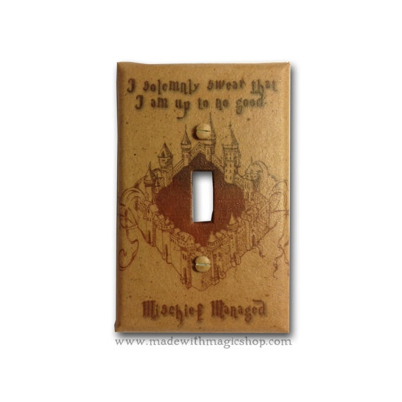 Marauder's Map  Harry Potter Inspired Switch Plate by mwithm, $9.99