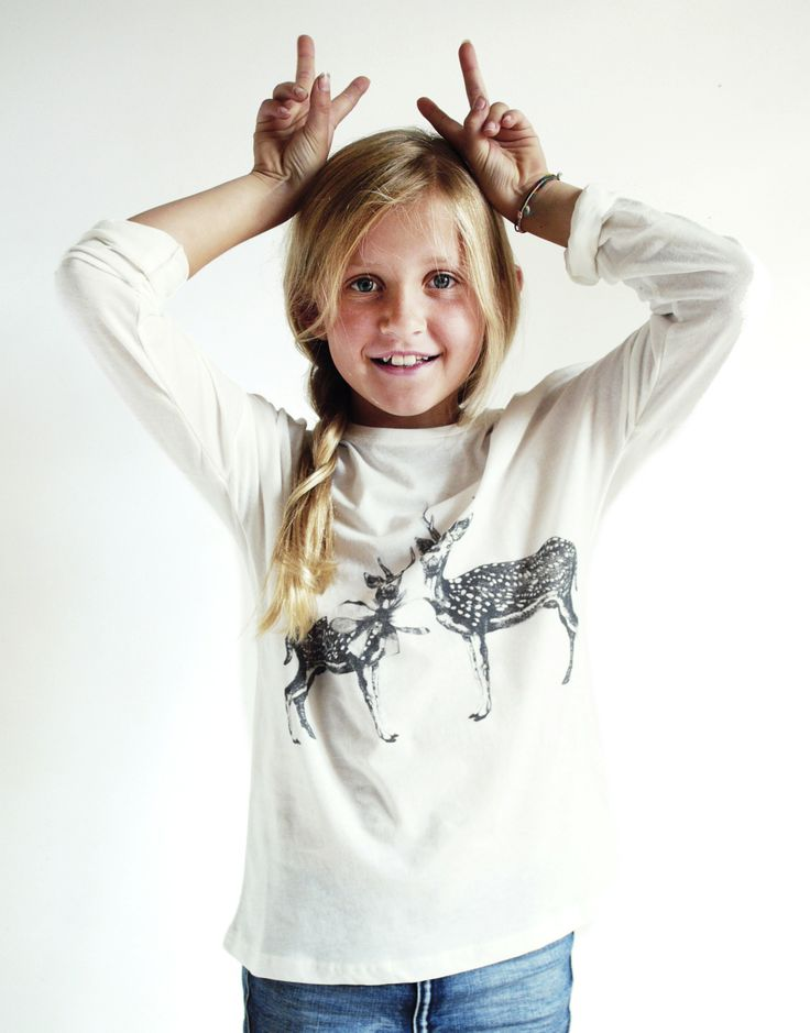 POP tee Deer by Breeze/Söderberg www.onewelike.com