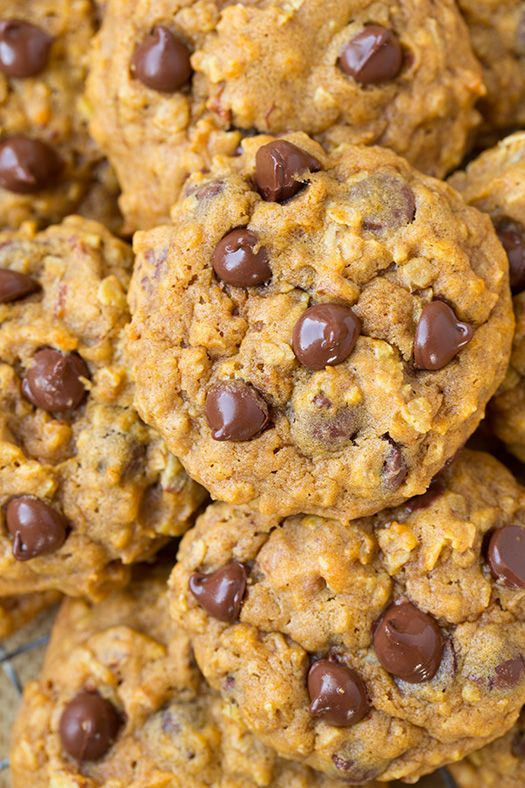 Pumpkin Oat Chocolate Chip Cookies | Cooking Classy