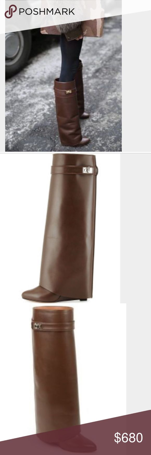 Givenchy Shark Lock Knee Boots Nwt Shoes Heels Boots