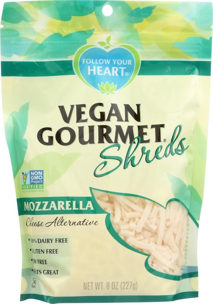 Follow Your Heart Mozzarella Cheese Alternative Shreds 8 Oz Cheese Alternatives Best Vegan Cheese Dairy Free Cheese