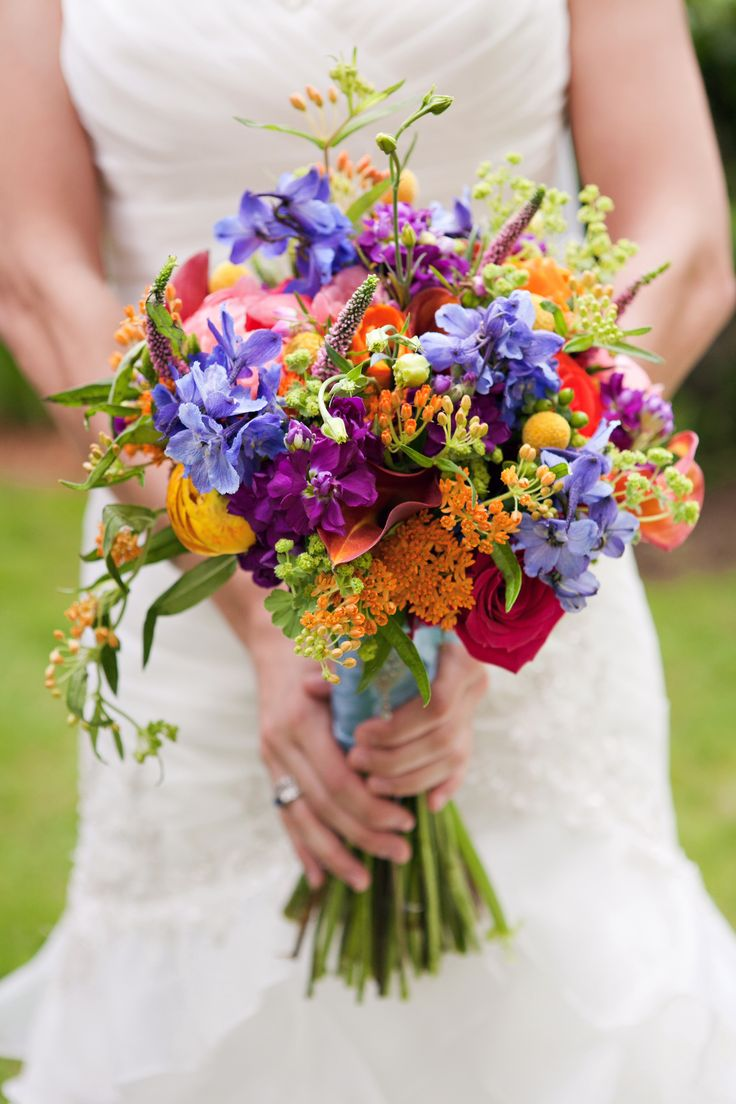 Wildflower bouquet wedding ideas pinterest wildflowers wedding wedding and pandora jewelry - Flowers good luck bridal bouquet ...