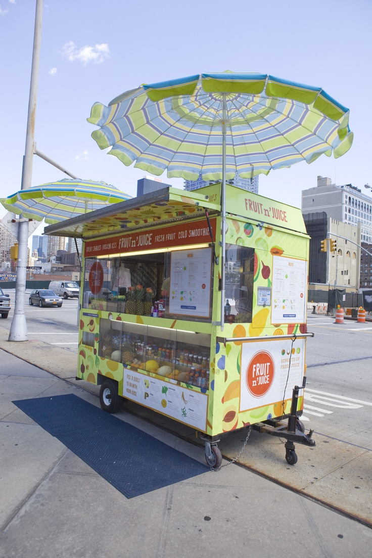 34th Street Partnership-designed vendor cart in Midtown, NYC.