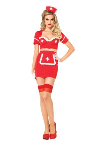 She's coming to your aid as fast as she can but she may make your heart skip a beat. This Heart Attack Hottie Nurse Costume is seriously sexy!