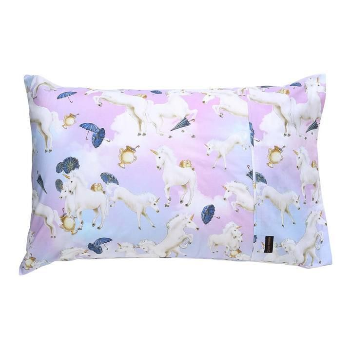 Kip & Co - Animalia Unicorns And Umbrellas Single Pillowcase