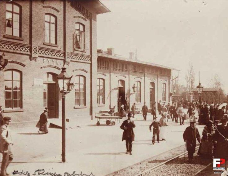 Dworzec kolejowy, Żyrardów - 1899 rok, stare zdjęcia