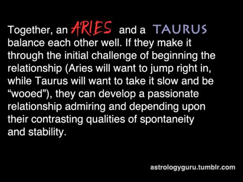 aries love match with taurus Some use those kitchy love calculators the internet plays home to, while compatibility: aries is a fire sign, so they like other fire signs like them (leo signs tend to extinguish fire, so aries isn't super compatible with taurus,.