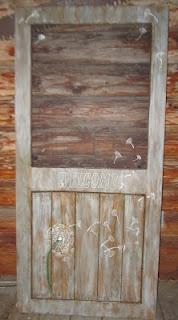 North #Country #Rustics ~ #Dandelion inspired Custom #Screen #Door with hand painted screen details