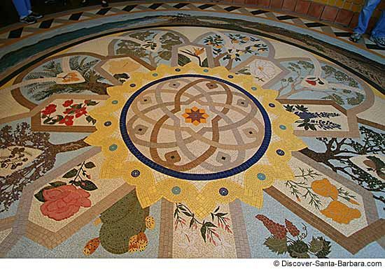 Santa Barbara Airport Rotunda Mosaic. This little airport was a real treat!