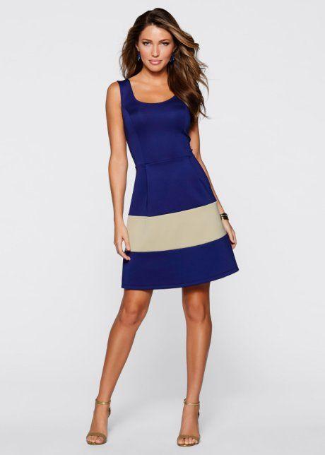 Robe aspect néoprène, BODYFLIRT boutique, bleu nuit/olive clair